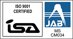 【ISO9001】ISA&JABマーク